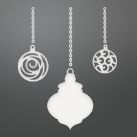 Couture Creations Dies Be Merry 3 Chained Baubles