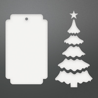 Couture Creations Dies Be Merry Christmas Tree Tag Set