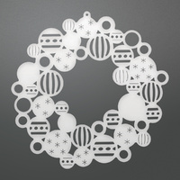 Couture Creations Die Bauble Wreath Decorative Die