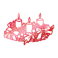 Couture Creations Hotfoil Stamp Wreathed Candles