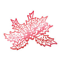 Couture Creations Hotfoil Stamp Christmas Holly