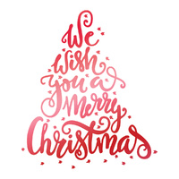 Couture Creations Hotfoil Stamp We Wish You a Merry Christmas