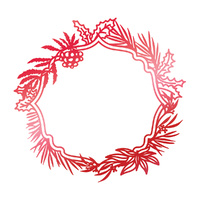 Couture Creations Hotfoil Stamp Wild Wreath Frame