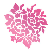 Couture Creations Hotfoil Stamp Rosy Bouquet