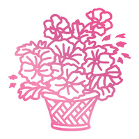 Couture Creations Hotfoil Stamp Basket of Flowers