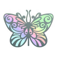 Cut and Foil Die Hotfoil Stamp Nouveau Butterfly