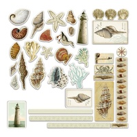 Couture Creations Ephemera Pack 36pc Seaside and Me