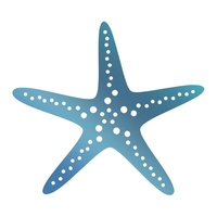 Couture Creations Hotfoil Starfish Seaside & Me Collection