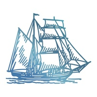 Couture Creations Hotfoil Tall Ship Seaside & Me Collection