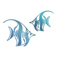 Couture Creations Hotfoil Angel Fish Seaside & Me Collection