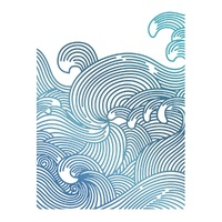 Couture Creations Hotfoil Swirling Seas Seaside & Me Collection