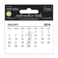 Couture Creations Calendar Tabs 10 Pack 2019