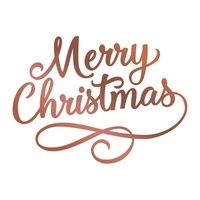 Couture Creations Hotfoil Stamp Highland Christmas - Merry Christmas Flourish (1pc)
