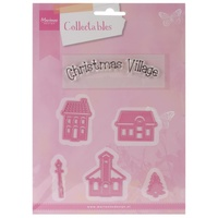 Marianne Designs Collectables Dies With Stamps Mini Christmas Village