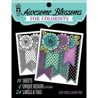 Hot Off The Press Colorist Colouring Book 5x6 Awesome Blossoms