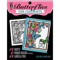 Hot Off The Press Colorist Colouring Book 5x6 Butterflies