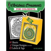 Hot Off The Press Colorist Colouring Book 5x6 Christmas Ornament