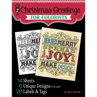Hot Off The Press Colorist Colouring Book 5x6 Christmas Greetings