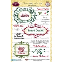 Justrite Stamp Christmas Vintage Labels Seven
