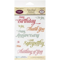 Justrite Clear Stamps Extra Grand Sentiments Stamps 9pc