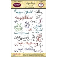 Justrite Clear Stamps Large Fancy Sentiments 18pcs