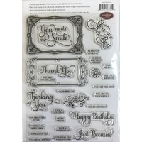 Justrite Clear Stamps Grand Sentiments 36pc