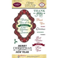 Justrite Stamp Christmas Labels Twenty