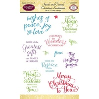 Justrite Clear Stamps Inside and Outside Christmas Sentiments