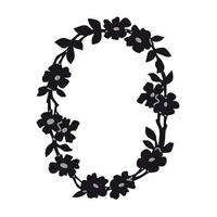 Marianne Design Craftables Dies Floral Oval Border CR1215