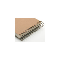 Carla Craft Binding System 3 x 12 Inch 18mm Steel Spiral Ring Brown