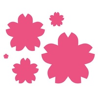 Craft Concept Dies Nested Florals - Sakura Flowers