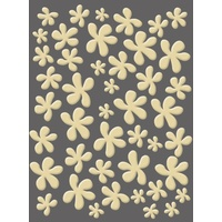 CRAFT CONCEPTS Embossing Folder Funky Flower 4.25 x 5.25 FREE SHIPPING