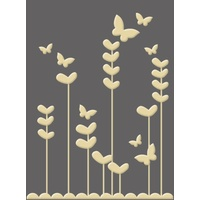 CRAFT CONCEPTS Embossing Folder Playful Garden 4.25 x 5.25