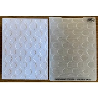 Couture Creations Embossing Folder A2 Grunge Dots