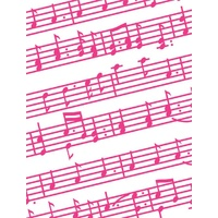 CRAFT CONCEPTS Embossing Folder Music Notes 4.25 x 5.5