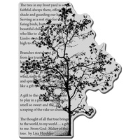 Stampendous Cling Rubber Stamps Tree Poem