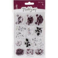 Elizabeth Craft ModaScrap Clear Stamps Sweet Vintage Rose