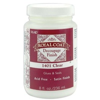 Plaid Royal Coat Clear Satin Decoupage Finish 236ml