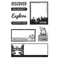 KaiserCraft Clear Stamps - Outdoor Trail CS184 FREE SHIPPING