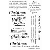 KaiserCraft Clear Stamps - Traditional Christmas CS193 FREE SHIPPING