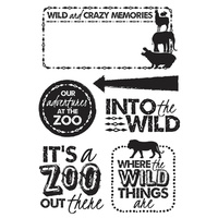 KaiserCraft Clear Stamps - Into The Wild CS220 FREE SHIPPING