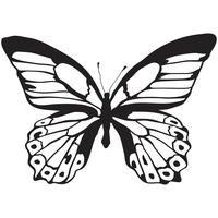 KaiserCraft Clear Stamps - Majestic Butterfly CS258 FREE SHIPPING