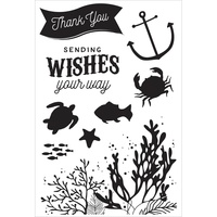 KaiserCraft Clear Stamps - Mermaid Tails CS263 FREE SHIPPING