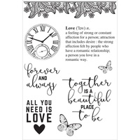 KaiserCraft Clear Stamps P.S. I Love You CS277