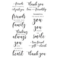 KaiserCraft Clear Stamps Background Stamp Friend Sentiments CS294