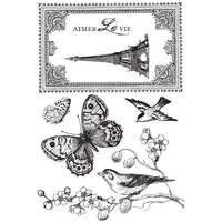 KaiserCraft Clear Stamps - Bonjour Collection - CS794 FREE SHIPPING