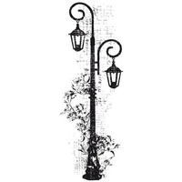 KaiserCraft Clear Stamps - Decorative Lamp CS799 FREE SHIPPING
