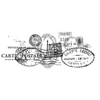 KaiserCraft Clear Stamps Postmarks Texture CS802