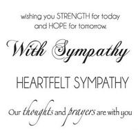 KaiserCraft Clear Stamps Sympathy Words Mini Clear Stamps CS924
