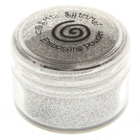 Cosmic Shimmer Brilliant Sparkle Embossing Powder Silver Light